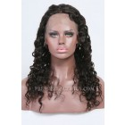 Clearance Full Lace Wig,Big Curl,Brazilian Virgin Hair,Natural Color,18 inches,120% Normal Density,Small Cap Size,Light Brown Lace