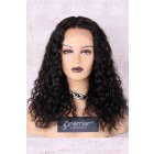 "Kiara--Shoulder Length Curly Hair 4.5"" Lace Front Wig,16 inches Natural Color"