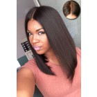 Middle Part Straight Hair Bob,Silk Top Lace Front Wig,Hidden Knots Most Realistic Parting,Indian Remy Human Hair