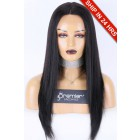 """Relaxed Hair Yaki Texture 13""""x4.5"""" Lace Front Wigs, Indian Remy Human Hair"""