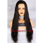 Transparent Lace Full Lace Wig For Fair-skinned Women,Indian Remy Hair Natural Straight,Pre-Plucked Hairline