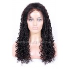 Water Wave Indian Remy Hair Glueless Lace Front Wigs