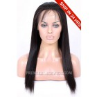 Light Yaki Chinese Virgin Hair Glueless Lace Front Wigs