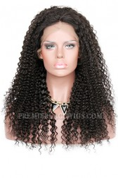 Kinky Curl Indian Remy Hair Improved 360°Anatomic Lace Wigs,150% Thick Density ,Pre-Plucked Hairline