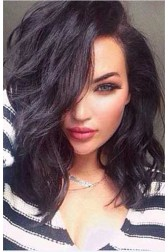 Natalie Halcro Wavy Lob 360 Lace Wigs,100% Indian Remy Hair,150% Thick Density