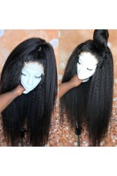 Deja--Super Thin Transparent HD Lace, Blowout Kinky Texture Indian Remy Human Hair Lace Wig [Pre-bleached knots only for natural color, Pre-plucked hairline, Removable elastic band]