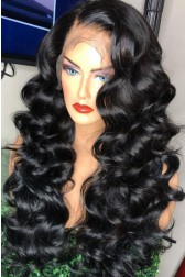 Charming Wave 360° Lace Wigs, Brazilian Virgin Hair 150% Thick Hair Density,Pre-plucked Hairline