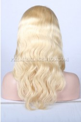 Blonde Color 613# Chinese Virgin Hair Body Wave Full Lace Wigs
