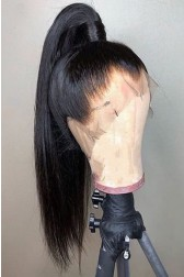 """Relaxed Hair Yaki Texture 6"""" Deep Part 360° Lace Wig, Pre-plucked hairline,Removable Elastic Band"""