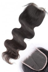 Transparent HD Lace 5×5 inches Lace Closures, Indian Remy Hair Body Wave Natural Color, Pre-plucked Hairline