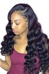 """Jasmine--Invisible HD Transparent Lace,Single Knots,6"""" Lace Frontal Wig,100% Cuticles Aligned Virgin Hair,Deep Wave,Removable Elastic Band"""