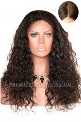 Brazilian Curl Silk Top Glueless Lace Front Wig Indian Remy Hair