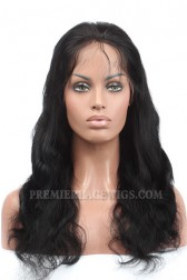 Body Wave Indian Remy Hair Glueless Lace Front Wigs