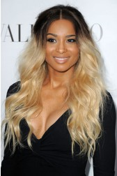 Ciara Casual Long Wavy Dark To Light Ombre Human Hair Lace Front Wigs{Not In Stock, Production Time 30 working days}