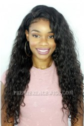 Brazilian Virgin Hair Full Lace Wigs Deep Body Wave