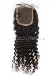Indian Virgin Hair Lace Closure Deep Wave,4x4inches Base Size