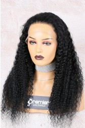 Full Lace Wig Brazilian Virgin Hair Deep Wave,Pre-plucked Hairline