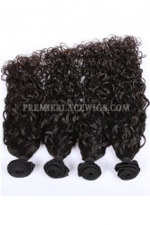 Peruvian Virgin Hair Natural Color Loose Curl Hair Extension 4 Bundles Deal