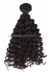 Natural Color Peruvian Virgin Hair Wefts Deep Wave