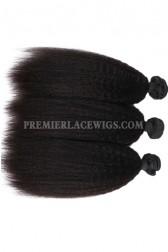 Peruvian Virgin Hair Weaves Natural Color Kinky Straight 3 Bundles Deal