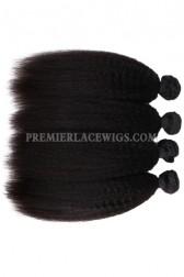 Peruvian Virgin Hair Weaves Natural Color Kinky Straight 4 Bundles Deal