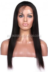 Light Yaki Indian Remy Hair Glueless Lace Front Wigs