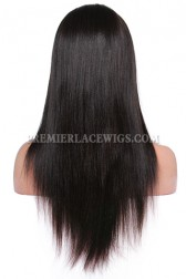 """Relaxed Hair Yaki Texture 13""""x3"""" Lace Frontal Wig Indian Remy Hair"""