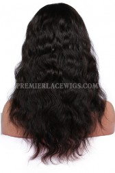 Indian Remy Hair Glueless Full Lace Wigs Natural Wave