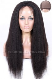 Brazilian Virgin Hair Silk Top Full Lace Wigs Kinky Straight