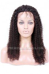 Kinky Curl Glueless Lace Front Wigs Brazilian Virgin Hair