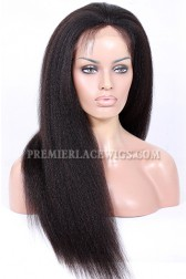 Kinky Straight Full Lace Wig Indian Remy Hair