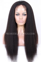 Silk Top Glueless Lace Front Wigs Indian Remy Hair Kinky Straight