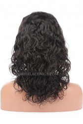 Loose Curl Chinese Virgin Hair Glueless Lace Front Wigs