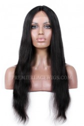 Natural Straight Indian Remy Hair Affordable Silk Base Middle Part Wigs {Production Time 7-10 working days}