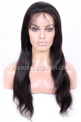 Full Lace Wigs 100% Hand-Tied, Indian Remy Human Hair Natural Straight  [Pre-order Now,Ship On October]