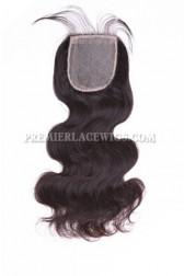 Brazilian Virgin Hair Silk Base Closure 4x4inches Body Wave