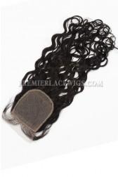 Indian Virgin Hair Silk Base Closure 4x4inches Loose Curl
