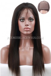 Custom Made Scalp Silk Top Full Lace Wigs,100% Hand-Tied, Brazilian Virgin Human Hair Silky Straight  [Production Time 90 working days]