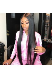 """30 Inches Extra-Long Brazilian Virgin Hair Bone Straight, 13""""x6"""" Lace Frontal Wig,Pre-Plucked Hairline"""