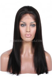 Yaki Straight Indian Remy Hair Glueless Lace Front Wigs
