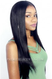 """Silky Straight 13""""x4"""" Lace Frontal Wig Indian Remy Hair"""