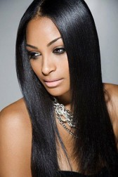 Yaki Straight Silk Top Lace Front Wigs Indian Remy Hair