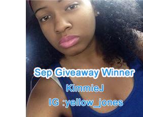 Sep Giveaway Winner