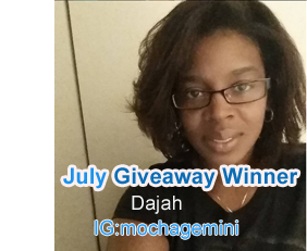 July Giveaway Winner