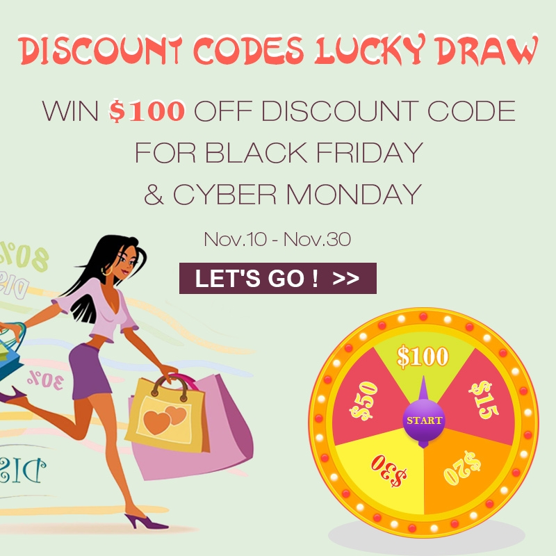 Enter The Lucky Draw To Win A $100 Discount Code for Black Friday & Cyber Monday