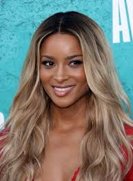 ombre long wavy lace wig