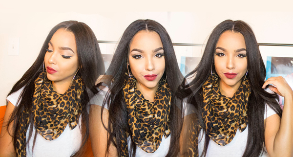 #Tutorial By LipsticknCurls|How To Lay A Kinky Straight Silk Top Lace Front Wig
