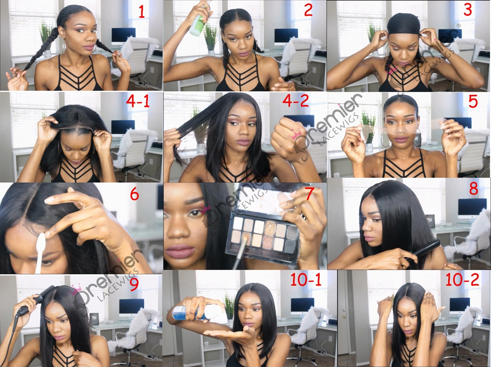 How to apply and style a straight hair lace wig