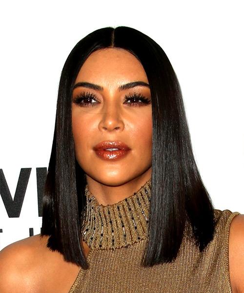 Kim Kardashian Medium Straight Bob