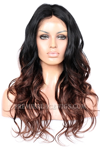 CLFW-18 Dark Brown Ombre lace front wig